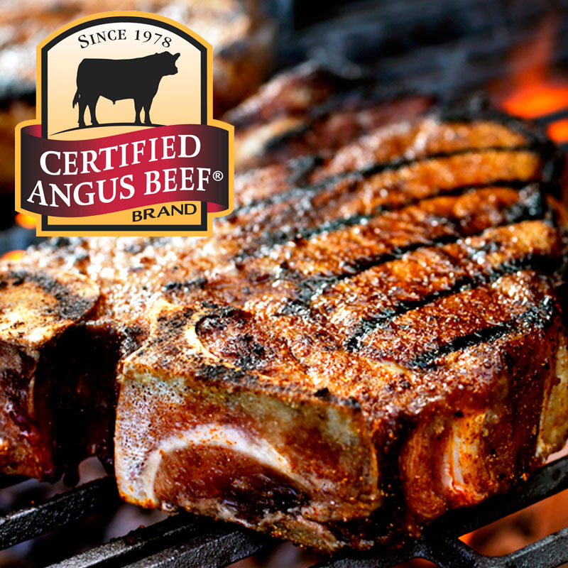 t-bone steak certified angus beef
